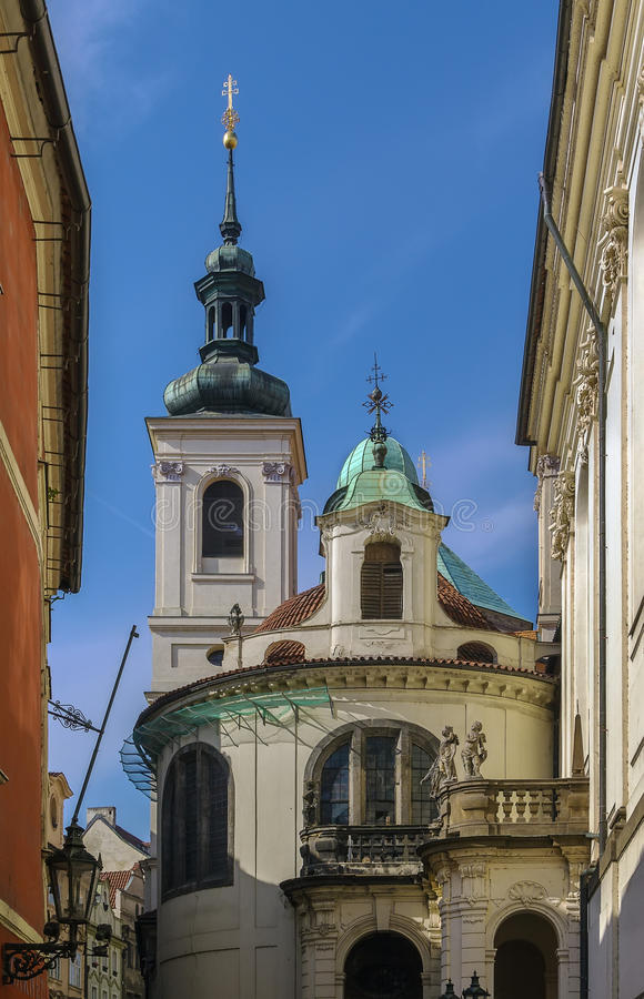 Italian Chapel of the Assumption of Our Lady, Prague royalty free stock image