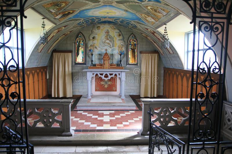 Inside the Italian Chapel at Camp 60 royalty free stock image