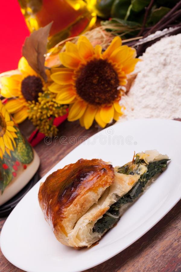 Italian Chard In Puff Pastry stock images