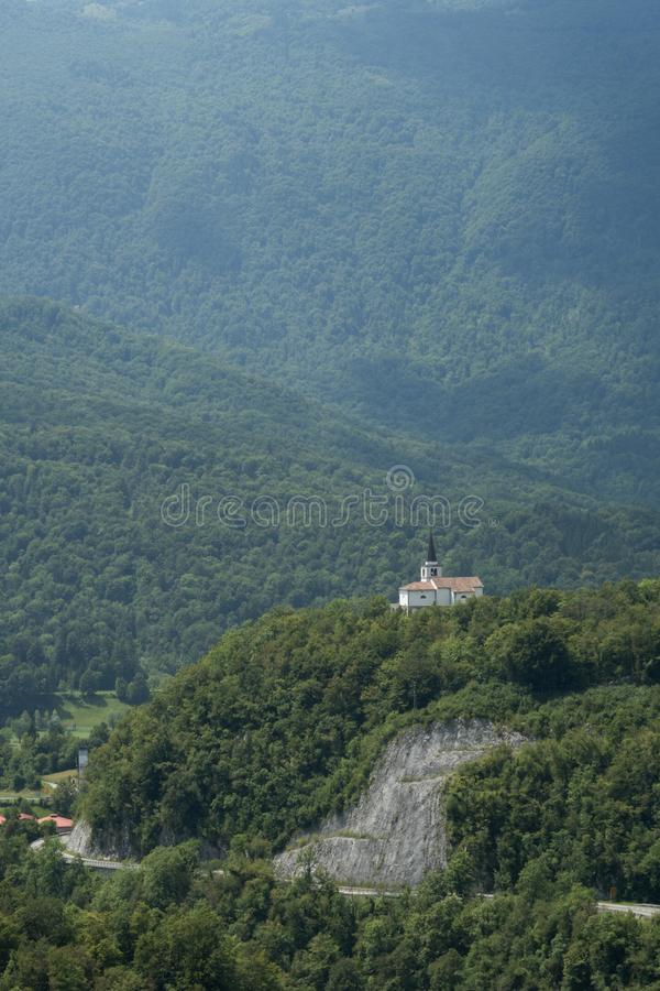 Italian charnel-house form the World War I above Kobarid in Julian Alps in Slovenia royalty free stock images
