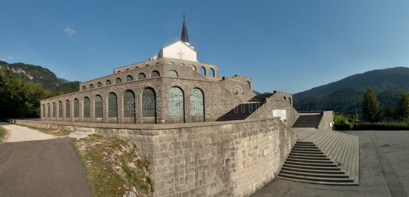 Italian charnel-house form the World War I above Kobarid in Julian Alps in Slovenia royalty free stock photography
