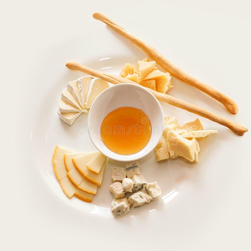 Italian cheeses stock image