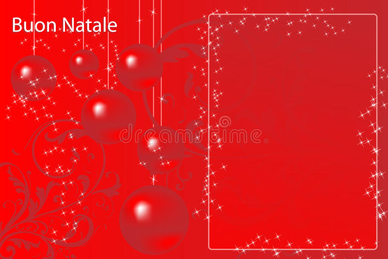 Italian Christmas card royalty free stock photos