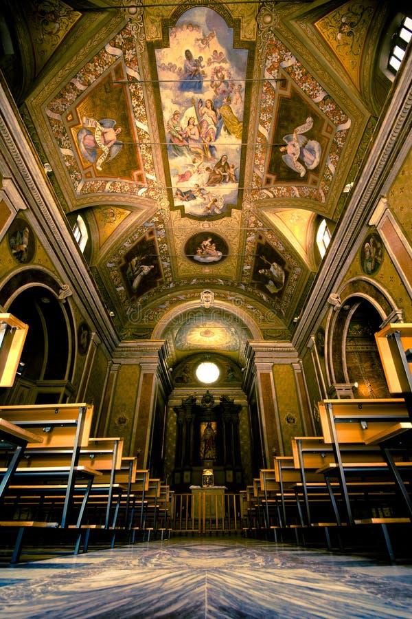 Italian church itnerior royalty free stock image