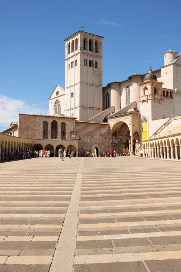 Italian city Assisi, monastery St. Francesco stock photo