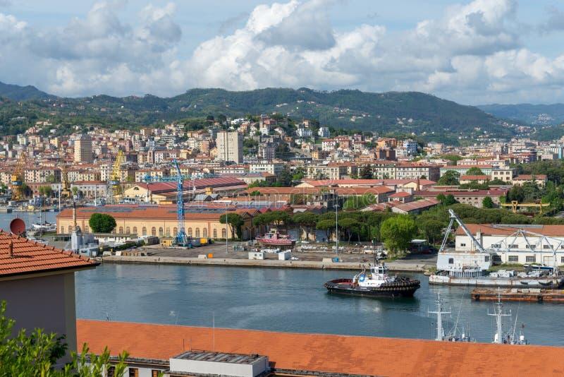 Italian city La Spezia royalty free stock photo