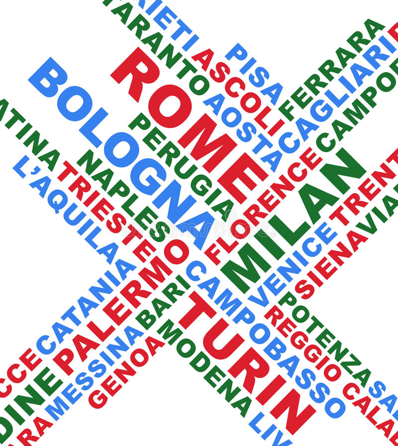 Download Italian City Names Collage Stock Image - Image: 24386421