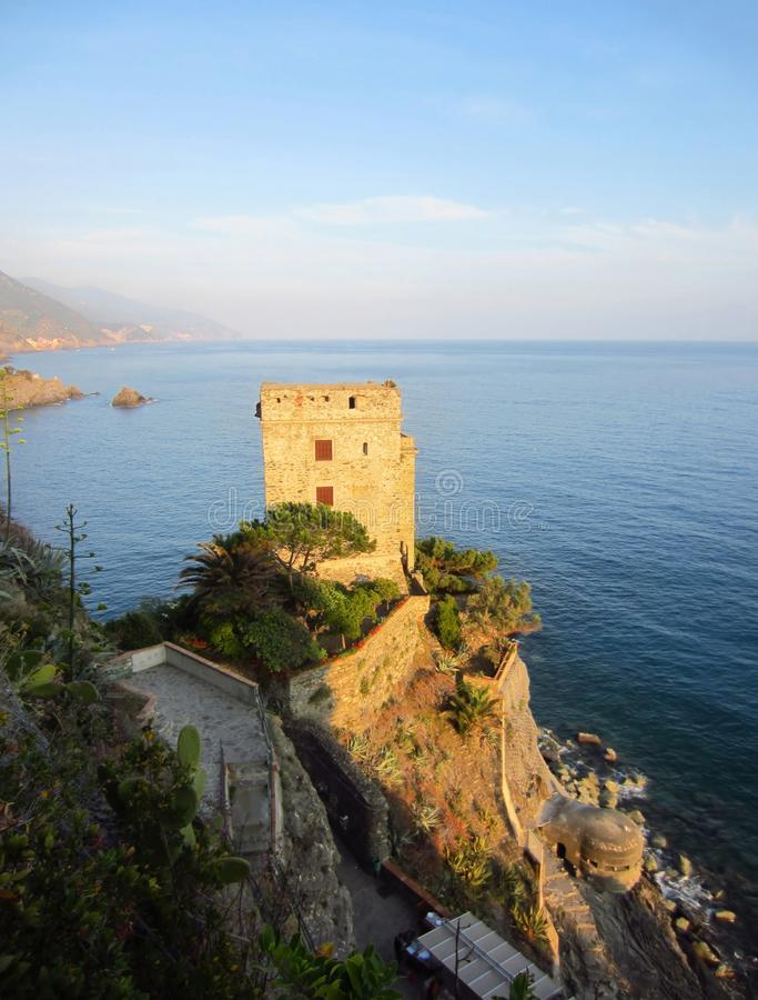 Download Italian coast with castle stock image. Image of mediterranean - 26045959