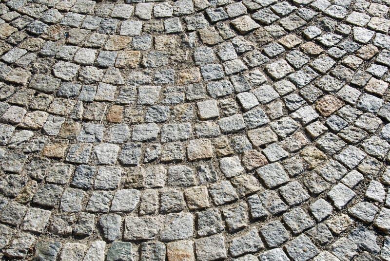 Italian cobbleston. A cobblestone area in an italian square royalty free stock image