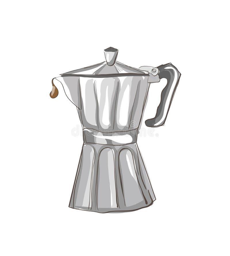 Italian Coffee Maker Vector : Italian Coffee Maker Sketch Stock Vector - Image: 39789306