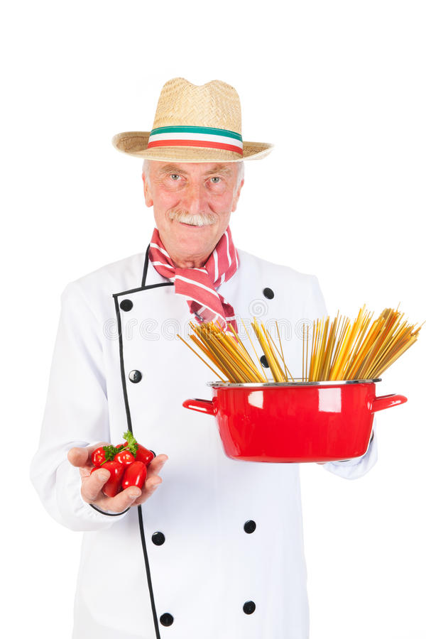 Download Italian cook stock image. Image of green, studio, senior - 33487299