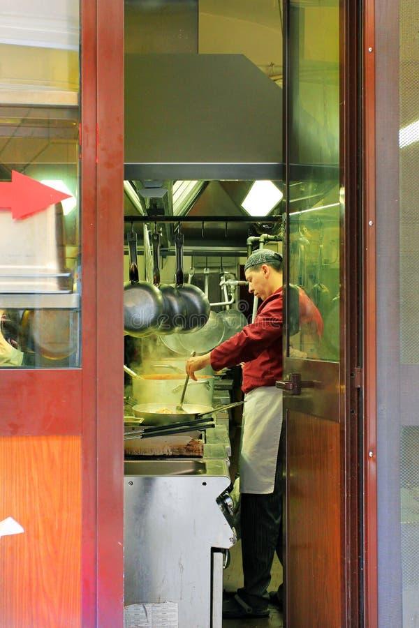 Italian cook Rome, Italy royalty free stock photo