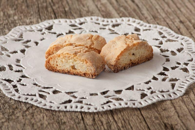 Italian cookies - cantucci. Traditional italian cantucci/cantuccini cookies royalty free stock photography