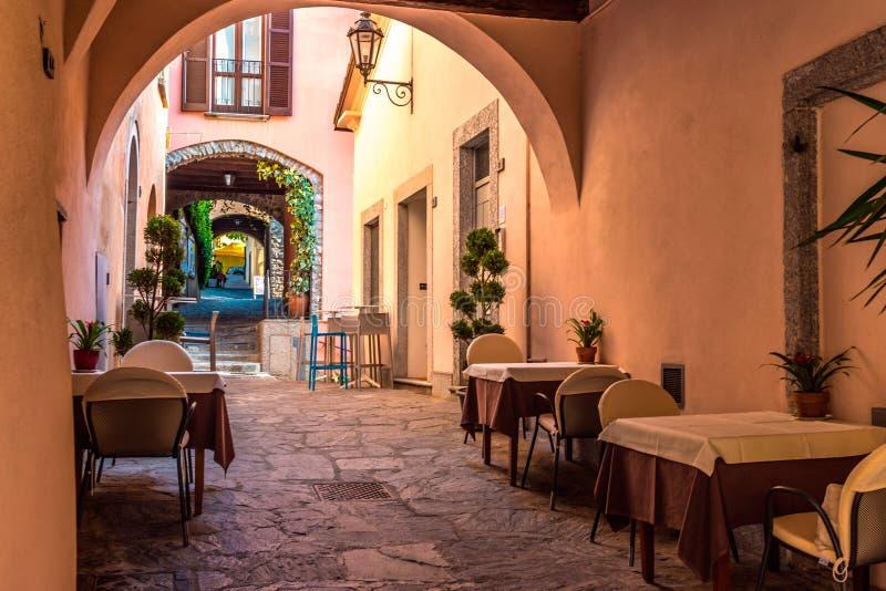 Italian street restaurant royalty free stock photos