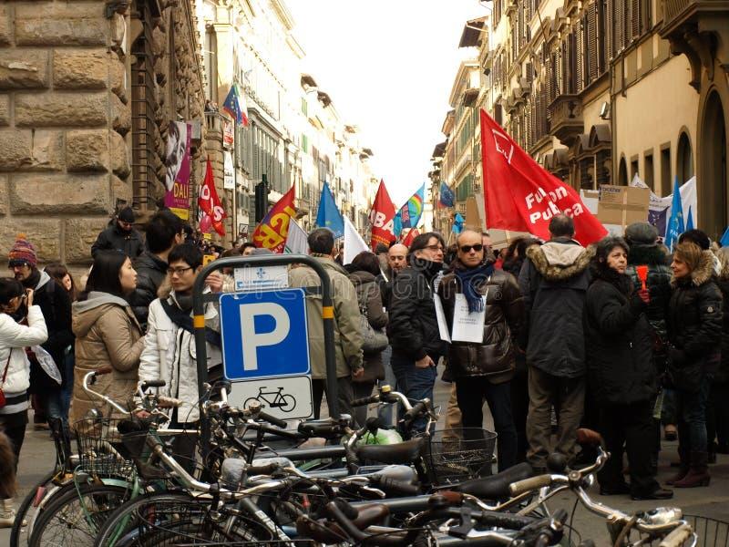 Italian crisis union manifestation royalty free stock image