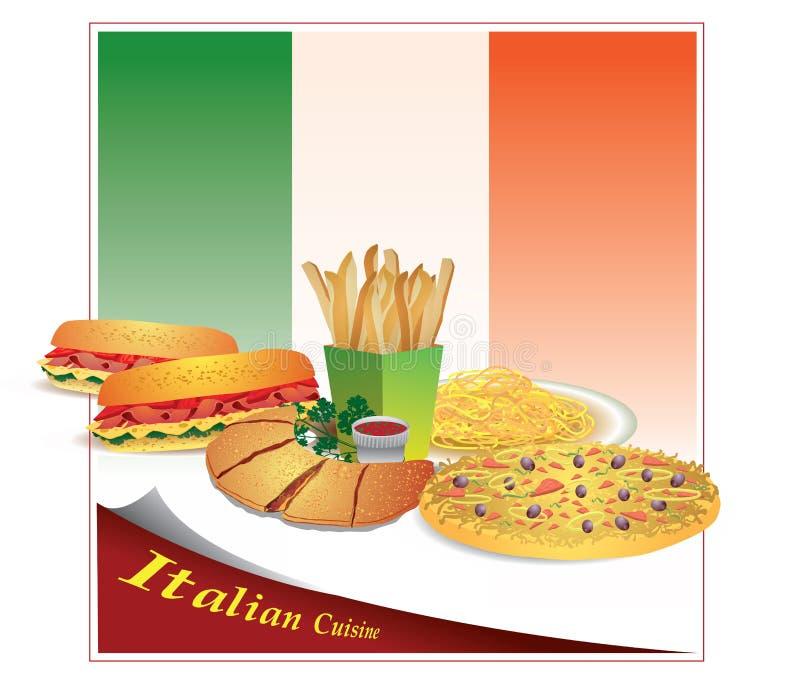 Download Italian Cuisine stock vector. Image of italian, fries - 24201529