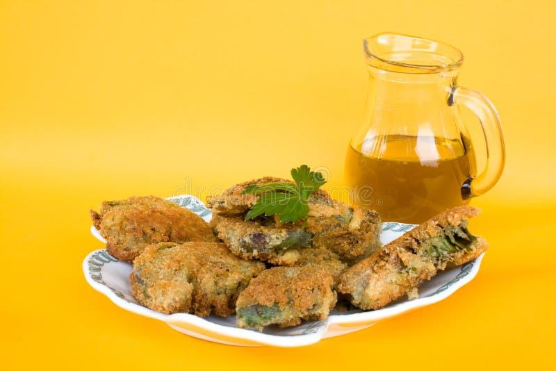 Italian Cuisine - Fried Artichokes royalty free stock image