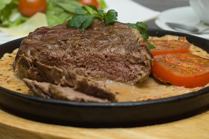 Italian Cuisine - Steak With Pepper Royalty Free Stock Images