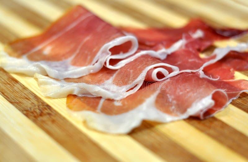 Italian cured ham stock image