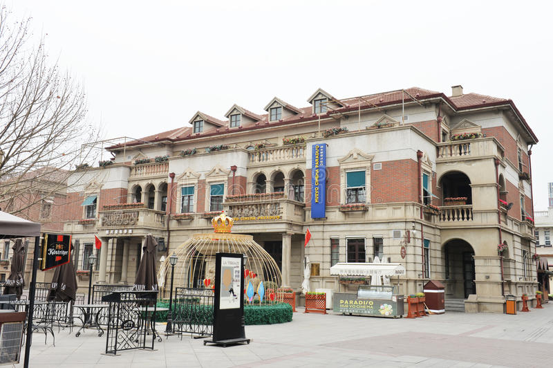 Italian custom area. Was central to the Italian concession in tianjin modern history, has nearly hundred years history. Blocks and buildings is basically stock images