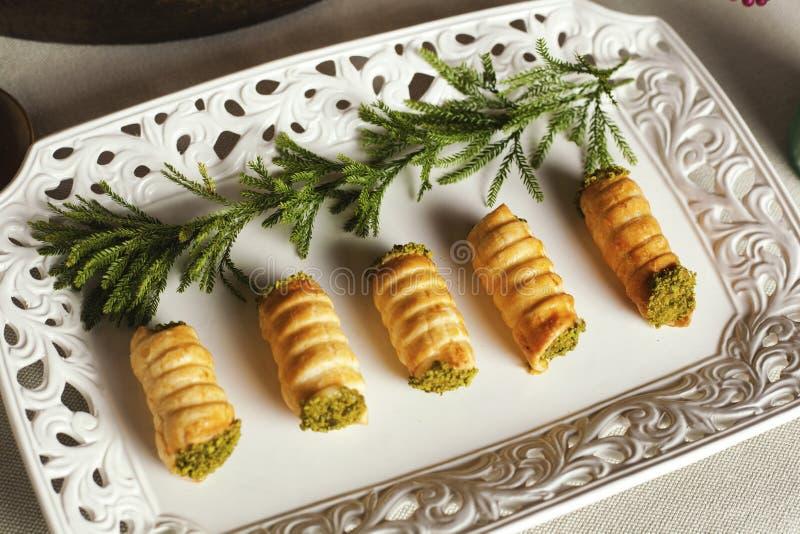 Italian dessert cannoncini royalty free stock photography