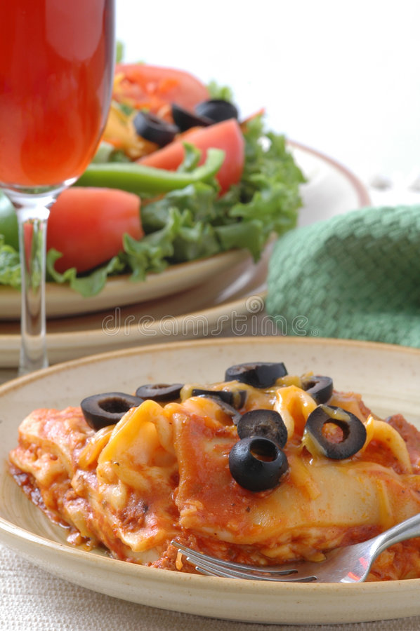 Italian Dinner stock photography