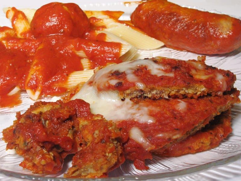 Italian Dinner stock images