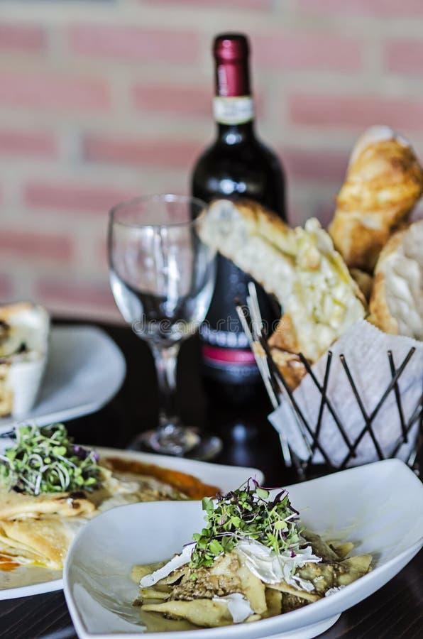 Download Italian Dinner Stock Photo. Image Of Sticks, Chianti   51411402