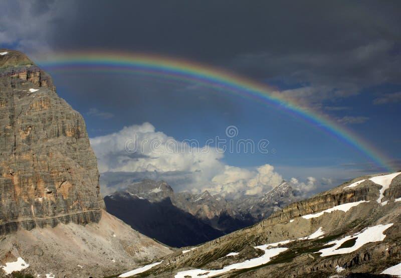 Italian Dolomites - via ferrata Tomaselli royalty free stock photo