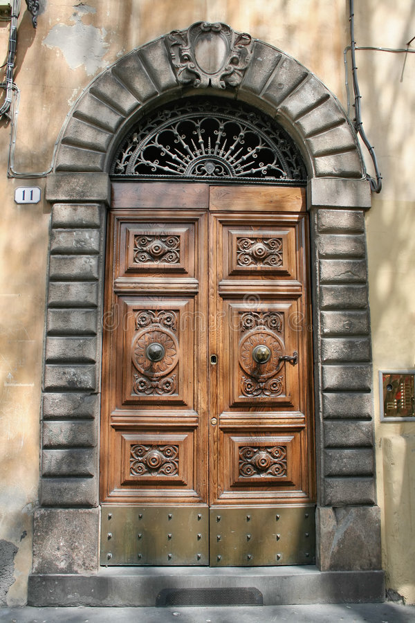 Italian door royalty free stock image