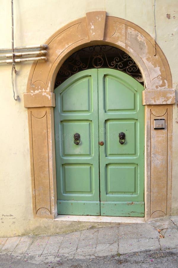 Download Italian door stock image. Image of front, door, green - 32970979