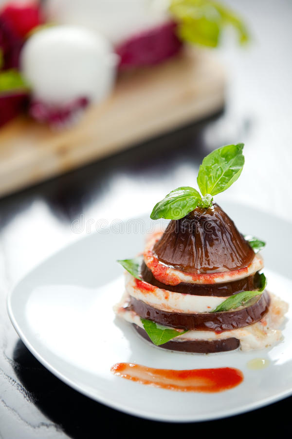 Download Italian Eggplant Parmiggiana Stock Image - Image of delicious, meal: 24278417