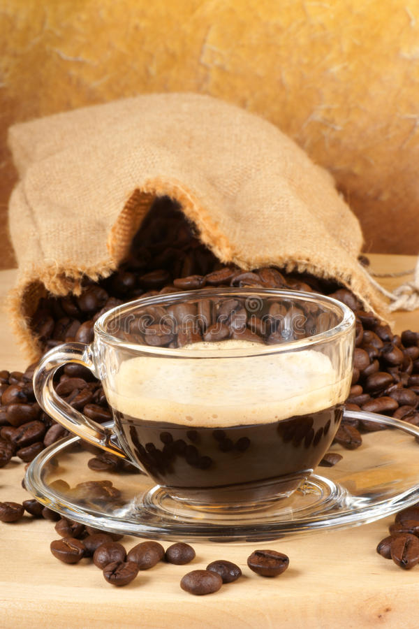 Italian espresso stock photo