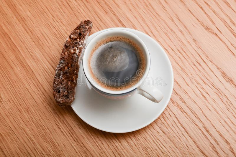 Italian espresso and biscotti royalty free stock image