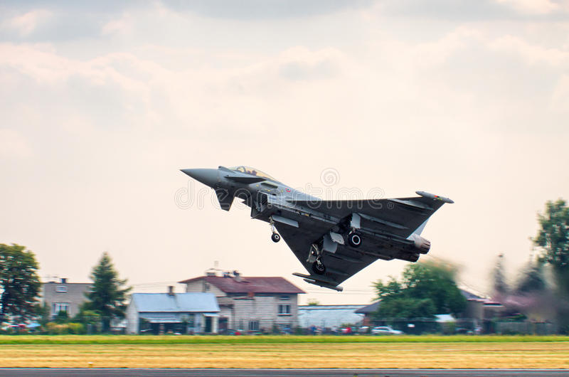 Italian Eurofighter Typhoon on Radom Airshow, Poland royalty free stock photo