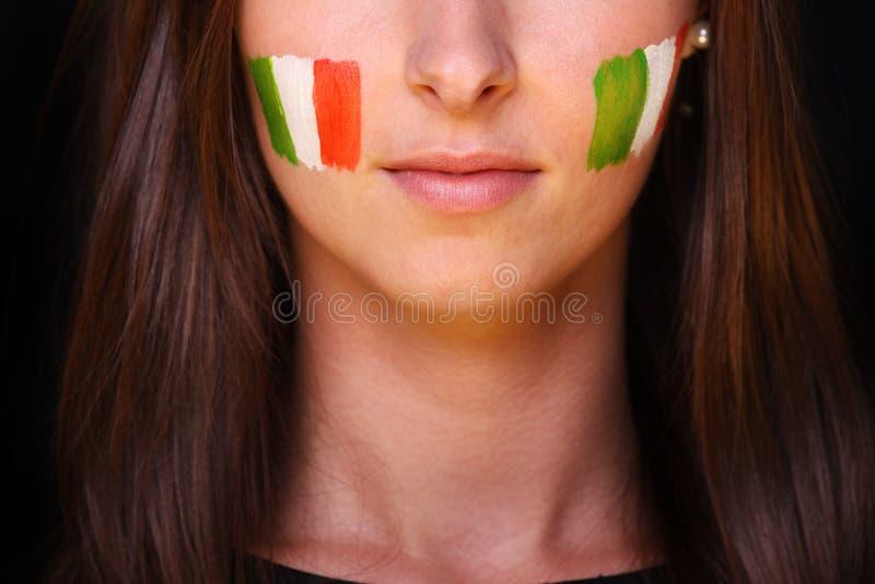 Italian Fan Royalty Free Stock Photo
