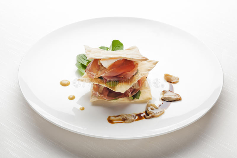 Fine Dining Appetizer royalty free stock images