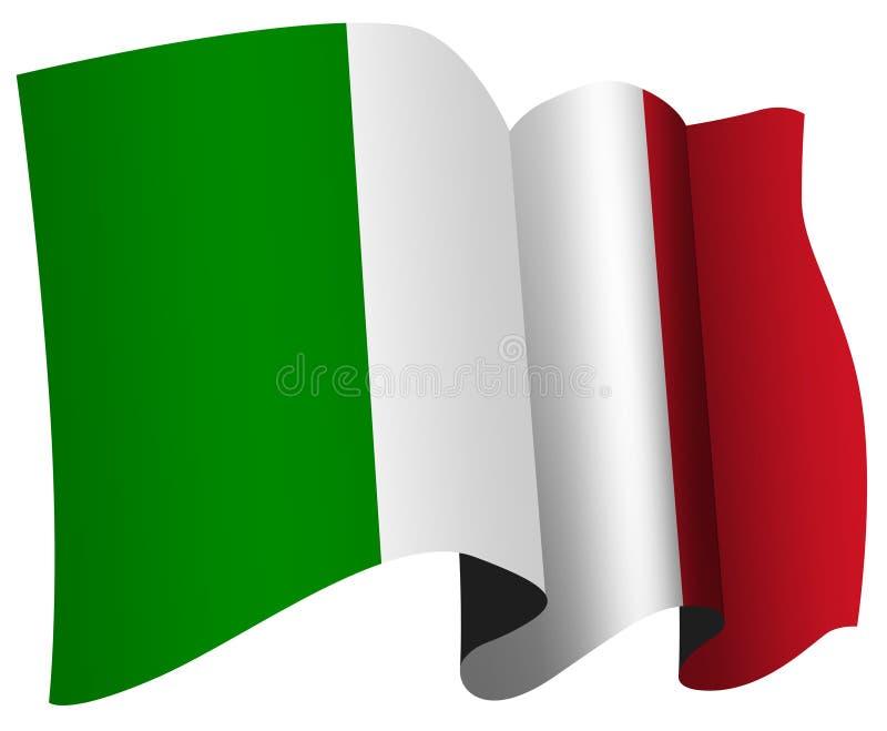 Italian flag stock illustration