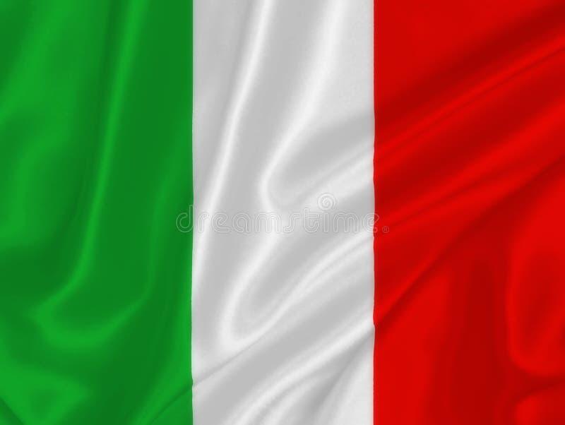 Italian flag. On the wind royalty free stock photo