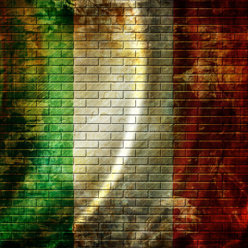 Italian flag royalty free illustration