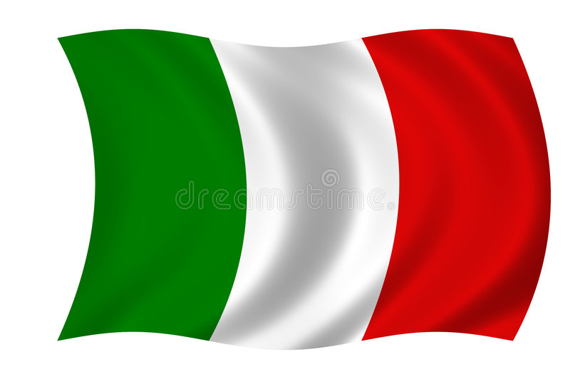 italian flag royalty free illustration