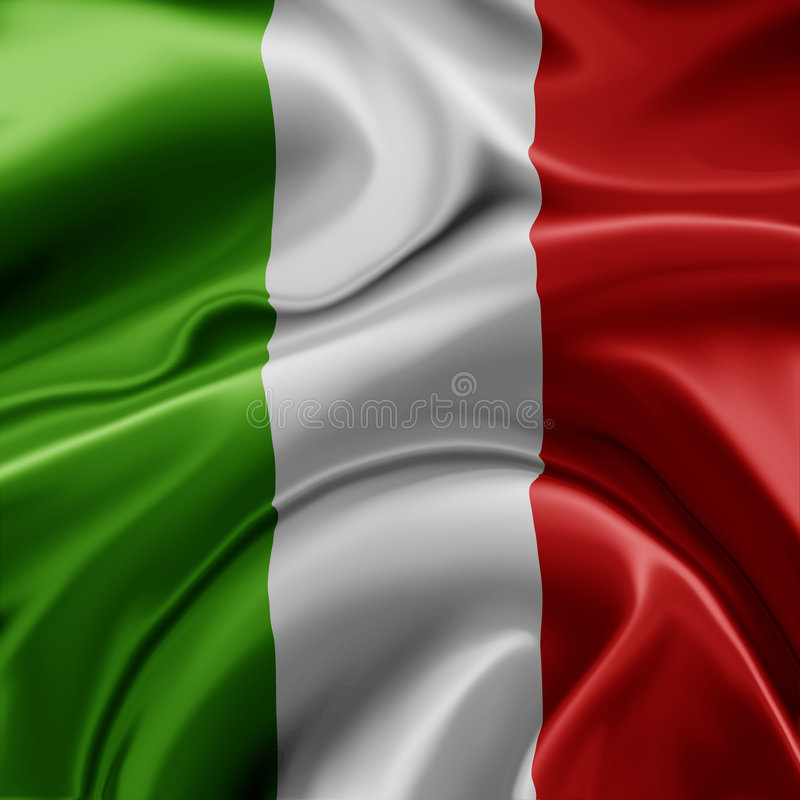 Italian flag stock illustration