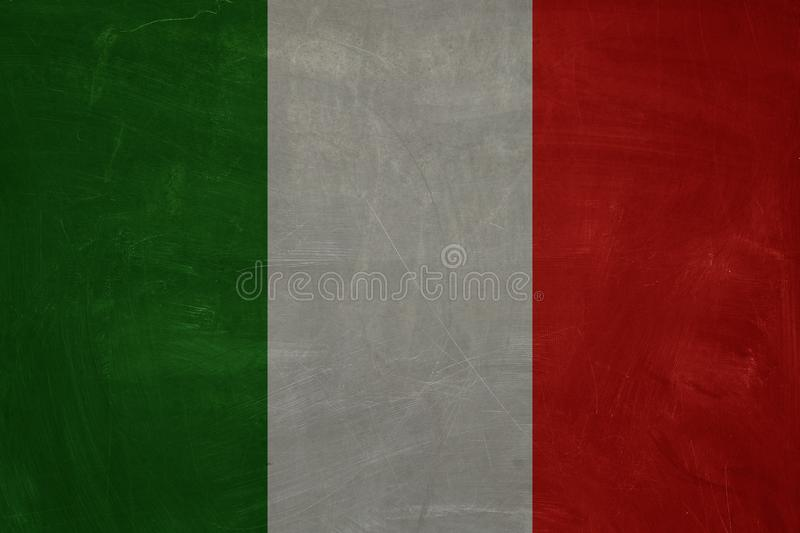 The Italian flag background. Vintage square flag of  Italy royalty free illustration