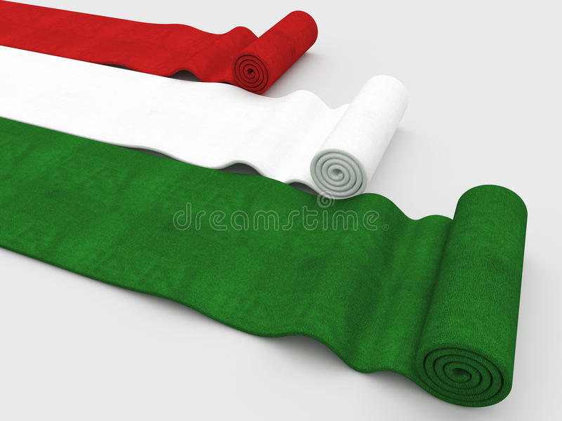 Italian flag carpet stock illustration