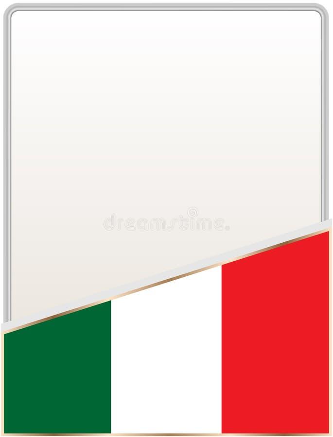 Italian Flag Frame Design Template For Brochures Stock Vector ...