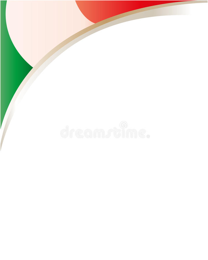 Italian flag frame wave vector illustration