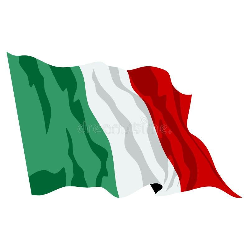 Italian Flag Illustartion Royalty Free Stock Photo