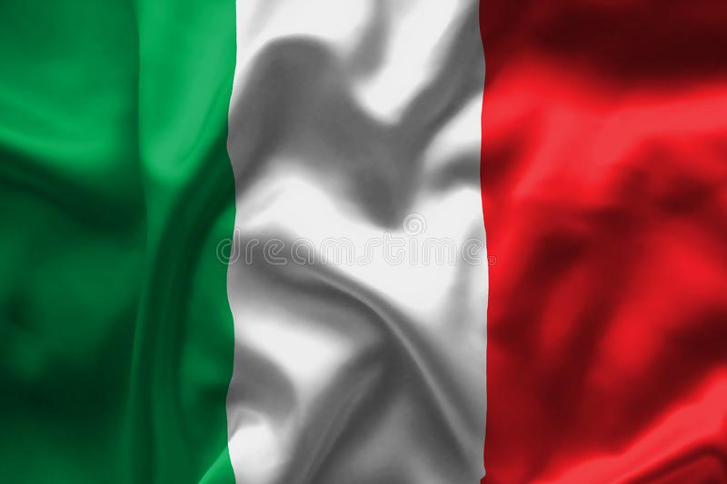 Italian Flag stock image. Close up of Italy`s Flag - Stock image, green, whire, red colours vector illustration