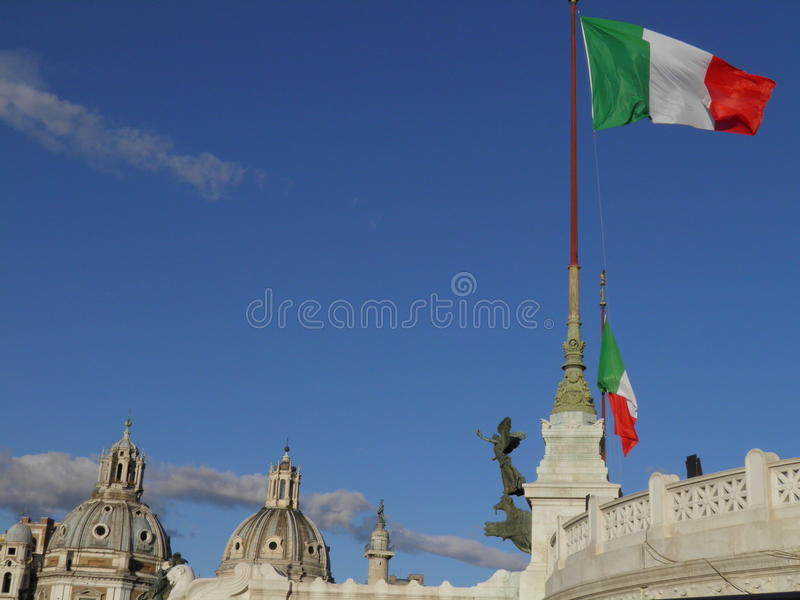 Download Italian Flags In Rome Stock Images - Image: 24422874