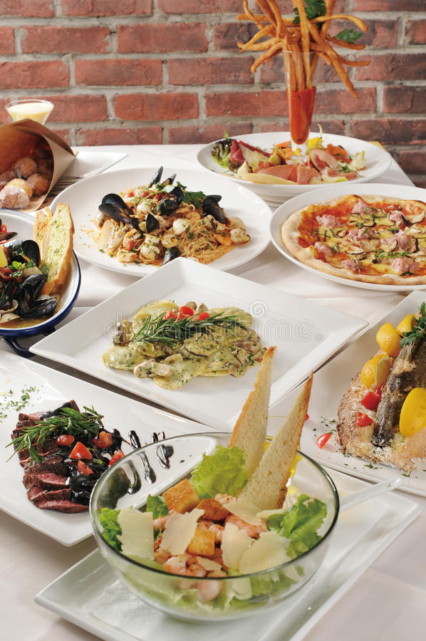 Italian food. On the table royalty free stock image